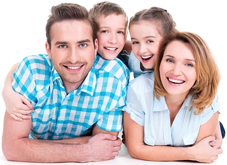 Happy Family Getting Payday Loan